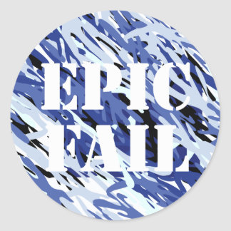 EPIC FAIL Blue Camo Sticker