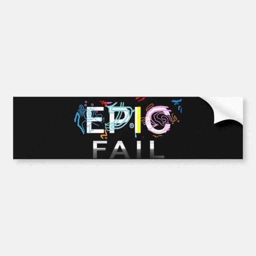 EPIC FAIL BUMPER STICKERS