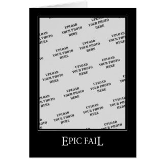 Epic Fail DeMotivational Template Card