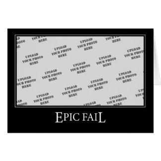 Epic Fail DeMotivational Template Cards