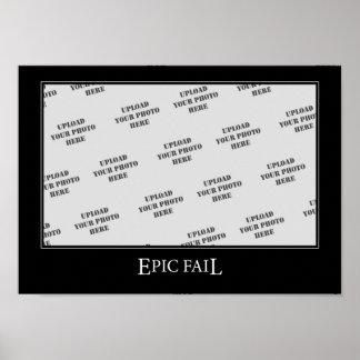 Epic Fail DeMotivational Template Print