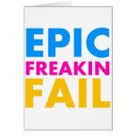 Epic Fail Greeting Card