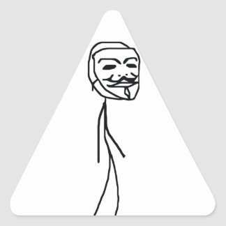 Epic Fail Guy Triangle Stickers