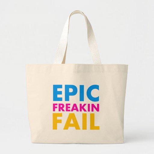Epic Fail Jumbo Tote Bag
