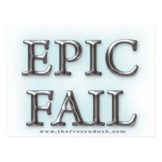 Epic Fail Postcard