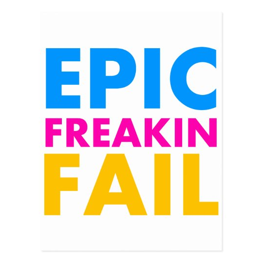 Epic Fail Postcard