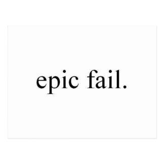 epic fail. postcard