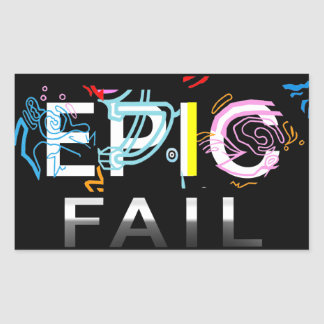 EPIC FAIL RECTANGULAR STICKER