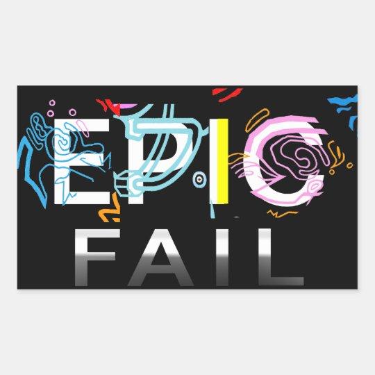EPIC FAIL RECTANGULAR STICKER