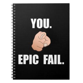 Epic Fail Spiral Notebook