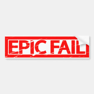 Epic Fail Stamp Bumper Sticker