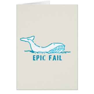 Epic Fail Whale Card