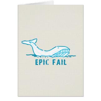 Epic Fail Whale Cards