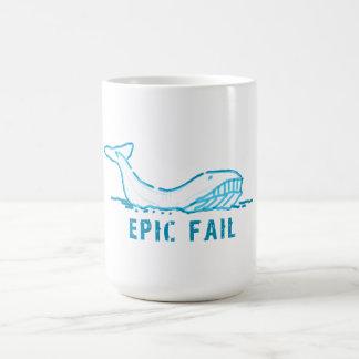 Epic Fail Whale Classic White Coffee Mug