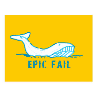 Epic Fail Whale Postcard