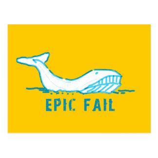 Epic Fail Whale Postcard