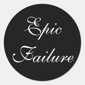 Epic Failure Classic Round Sticker