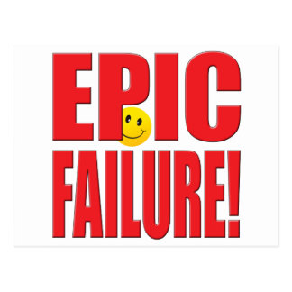 Epic Failure Life Postcard
