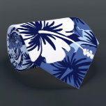 "Epic Floral Hibiscus Hawaiian Two-sided Printed Neck Tie<br><div class=""desc"">Navy,  white,  denim blue and baby blue Colorway.  Tropical vintage print inspired by the aloha shirts of the sixties &amp; seventies. Epic sized hibiscus flowers create this tropical pattern. These designs come in several colorways.</div>"