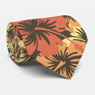 Epic Floral Hibiscus Hawaiian Two-sided Printed Neck Tie