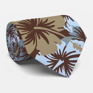 Epic Floral Hibiscus Hawaiian Two-sidedPrinted Tie