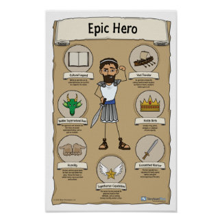 Epic Hero Classroom Poster - White background