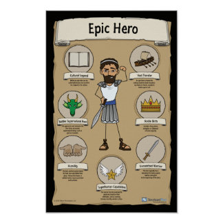 Epic Hero Classroom Posters - BLACK background