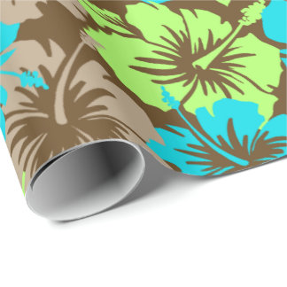 Epic Hibiscus Floral Hawaiian Wrapping Paper