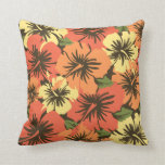 Epic Hibiscus Hawaiian Decorative Square Pillows