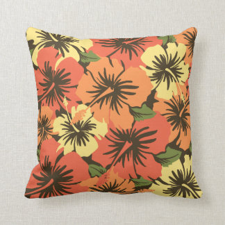 Epic Hibiscus Hawaiian Decorative Square Pillows