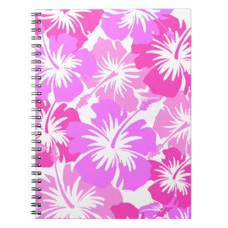 Epic Hibiscus Hawaiian Floral Aloha Shirt Print Notebook