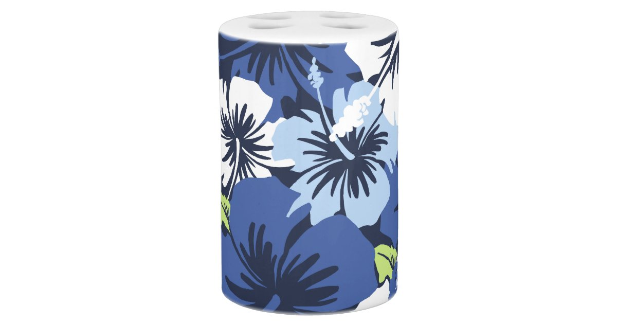 Epic hibiscus hawaiian floral bath accessories bath set for Floral bath accessories