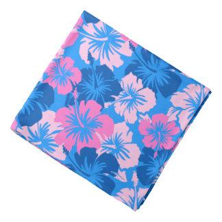 Epic Hibiscus Hawaiian Floral Ocean Blue Bandana