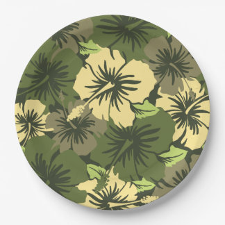 Epic Hibiscus Hawaiian Floral Paper Plate
