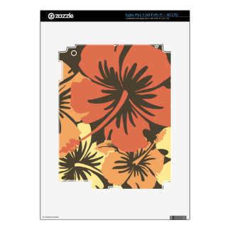 Epic Hibiscus Hawaiian iPad 3 or Tablet Skin iPad 3 Decals
