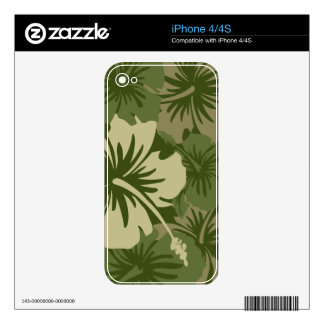 Epic Hibiscus Hawaiian iPhone 4/4S Skin Skins For The iPhone 4S