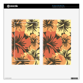 Epic Hibiscus Hawaiian Kindle or eReader Skin Decals For Kindle Fire