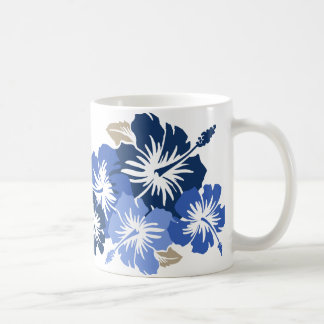 """Epic Hibiscus"" in Blue Mug"