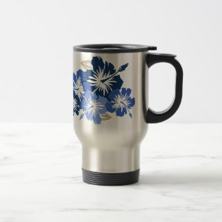 """Epic Hibiscus"" in Blue Travel Mug"