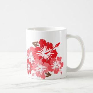 """Epic Hibiscus"" in Coral Mug"
