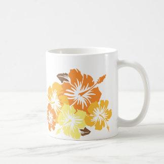 """""""Epic Hibiscus"""" in Orange Mug"""