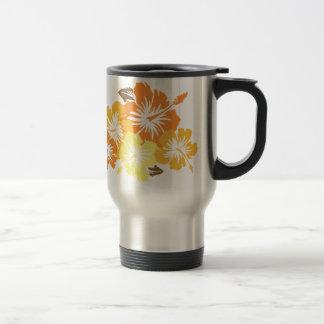 """""""Epic Hibiscus"""" in Orange Travel Mug"""