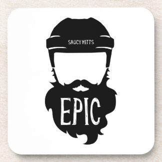 Epic Hockey Playoff Beard Beverage Coaster