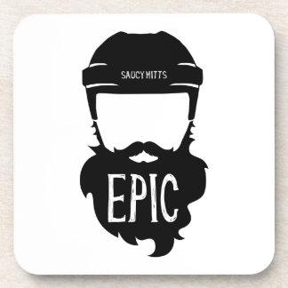 Epic Hockey Playoff Beard Drink Coasters