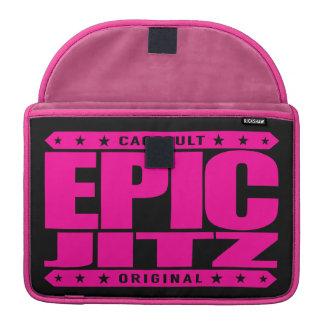 EPIC JITZ - Skilled Warrior of Brazilian Jiu-Jitsu Sleeve For MacBooks