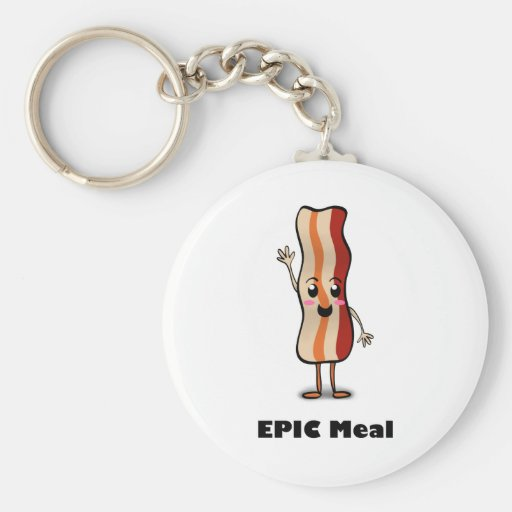Epic Meal Bacon! Key Chain