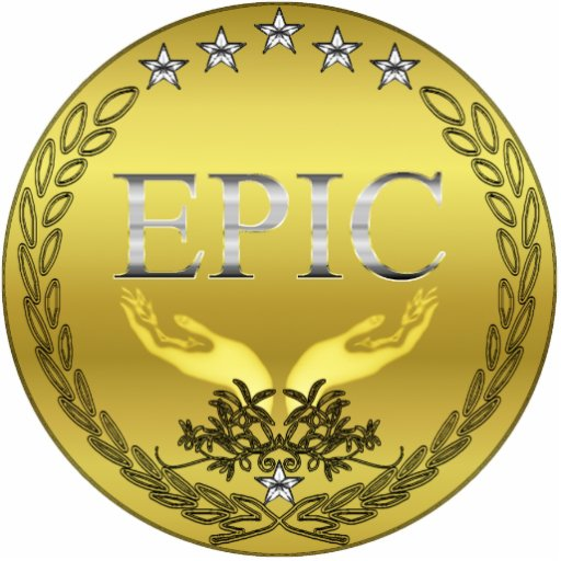 EPIC Medal Keychain Photosculpture Cut Out