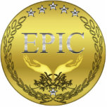 EPIC Medal Pin Photosculpture Cut Outs