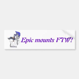 Epic mounts bumper sticker