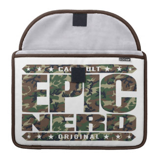 EPIC NERD - Cerebral Warrior, Defender of Reason Sleeve For MacBooks
